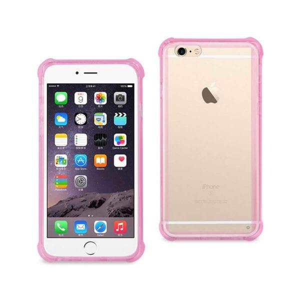 Pink Cushion Case - iPHONE 6 Plus Clear Bumper Case With Air Cushion