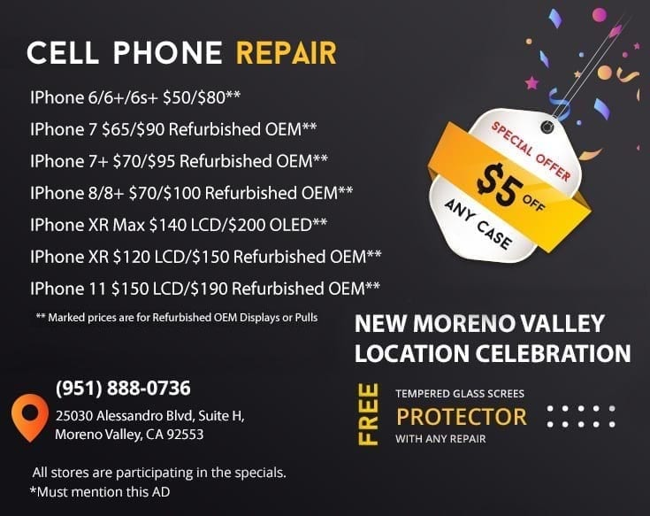 Cell phone repair services